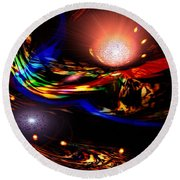 Abstract Mood Round Beach Towel
