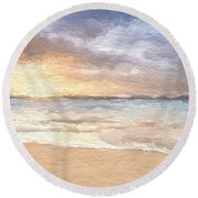 Abstract Morning Tide Round Beach Towel by Anthony Fishburne