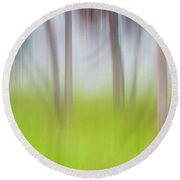Abstract Moving Trees #1 Background Round Beach Towel