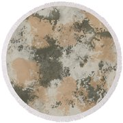 Abstract Mud Puddle Round Beach Towel