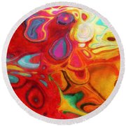 Abstract No. 20 Round Beach Towel