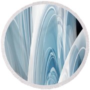 Round Beach Towel featuring the digital art Abstract No 23 by Robert G Kernodle