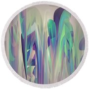 Round Beach Towel featuring the digital art Abstract No 27 by Robert Kernodle