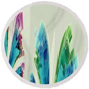 Round Beach Towel featuring the digital art Abstract No 35 by Robert G Kernodle
