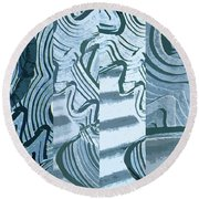Abstract No. 57-1 Round Beach Towel