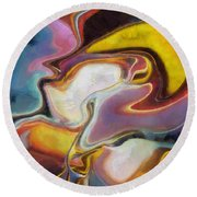 Abstract No. 6 Round Beach Towel