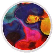 Abstract No.5 Round Beach Towel