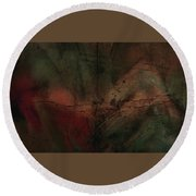 Abstract Nude 4 Round Beach Towel by Jim Vance