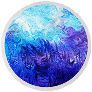 Abstract Ocean Fantasy Five Round Beach Towel