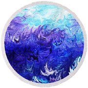 Abstract Ocean Fantasy Four Round Beach Towel