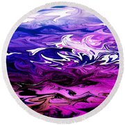 Abstract Ocean Fantasy Two Round Beach Towel