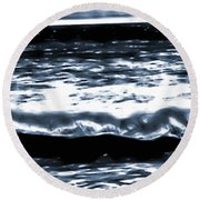 Abstract Ocean Round Beach Towel