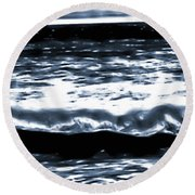 Abstract Ocean Round Beach Towel