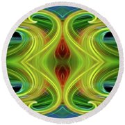 Abstract Of Swirls Round Beach Towel
