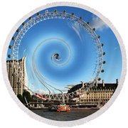 Abstract Of The Millennium Wheel Round Beach Towel