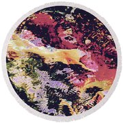 Abstract Of Water With Koi Round Beach Towel by Tim Good