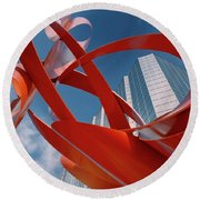 Abstract - Oklahoma City Round Beach Towel