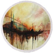 Abstract Painting Contemporary Art Round Beach Towel