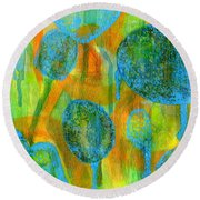 Abstract Painting No. 1 Round Beach Towel by David Gordon