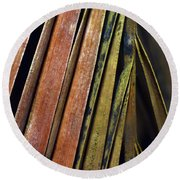 Abstract Palm Frond Round Beach Towel