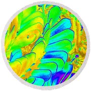 Abstract Plant Round Beach Towel