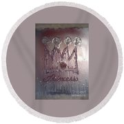 Abstract Princess Dreams Of Grandeur Round Beach Towel