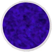 Round Beach Towel featuring the photograph Abstract Purple 7 by Clare Bambers