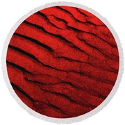 Abstract Red Sand- 2 Round Beach Towel