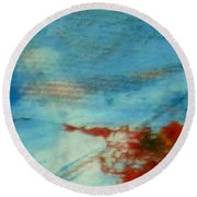 Abstract Red White Blue Round Beach Towel