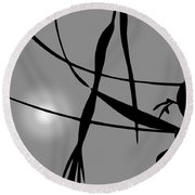 Abstract Reflection Round Beach Towel