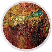 Abstract Rock 2 Round Beach Towel