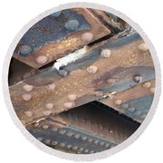Abstract Rust 2 Round Beach Towel