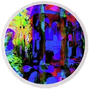 Abstract Series 0177 Round Beach Towel