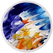 Abstract Series 0615a-4-l1 Round Beach Towel