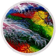 Abstract Series 0615a Round Beach Towel