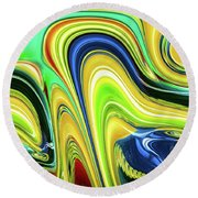 Abstract Series 153240 Round Beach Towel