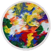 Abstract Series A1015ap Round Beach Towel