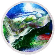 Abstract Series B Round Beach Towel