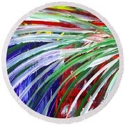 Abstract Series C1015bl Round Beach Towel