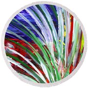 Abstract Series C1015bp Round Beach Towel