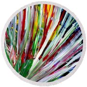 Abstract Series C1015cp Round Beach Towel