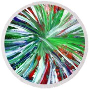 Abstract Series C1015dp Round Beach Towel
