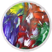 Abstract Series E1015al Round Beach Towel