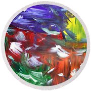 Abstract Series E1015ap Round Beach Towel