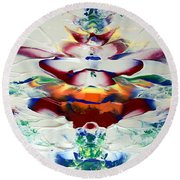 Abstract Series H1015al Round Beach Towel