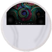 Round Beach Towel featuring the pastel Abstract by Sheila Mcdonald