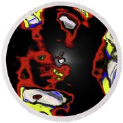 Abstract Shell Creature Round Beach Towel by Gina O'Brien