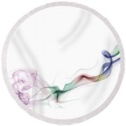 Abstract Smoke Round Beach Towel