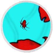 Abstract Spider Round Beach Towel