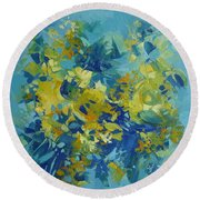 Abstract Spring Round Beach Towel